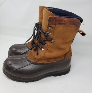 LL Bean Boot Size 9 Duck Insulated Tall Lace Up